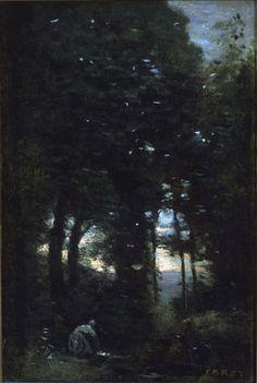 Jean-Baptiste-Camille Corot (1796-1875) - Washerwoman, 1850