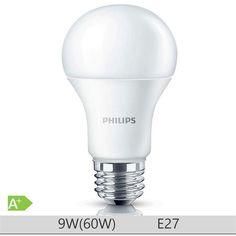 Bec LED Philips 9W E27 forma clasica A60, lumina rece http://www.etbm.ro/tag/148/becuri-led-e27