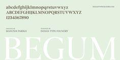 Begum - Webfont & Desktop font « MyFonts