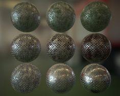 Procedural metal PBR Substance, Simon Tremblay Gauthier on ArtStation at https://www.artstation.com/artwork/5eb8w