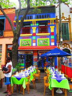 Cafe, Caminito, La Boca Argentina-Take a walk and enjoy a coffee or taste a mate to feel like a porteño in our city. Argentina South America, South America Travel, Adventure Awaits, Belize, Argentine Buenos Aires, Places Around The World, Around The Worlds, Places To Travel, Places To Go