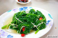 Taiwanese vine spinach stir fry 炒川七