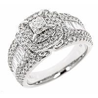 1.95 CT. T.W. Princess Cut Diamond Bridal Ring in 14K White Gold (HI, I1) - Sam's Club
