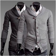 Men's Slim Fit Shawl Collar Cardigan - In both colors!