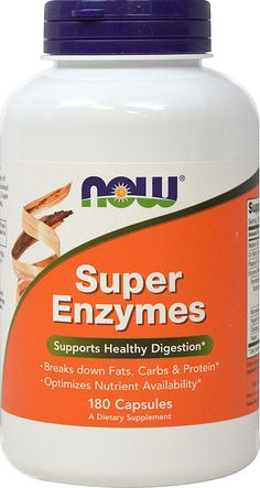 Now Foods SUPER ENZYMES  180 capsules  SUPPORTS HEALTHY DIGESTION