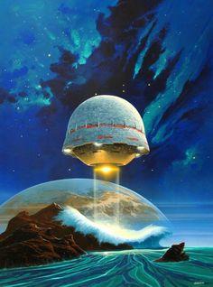 Space ship landing