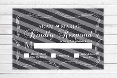 Black and White Wedding RSVP by WritefullySimple on Etsy, $30.00