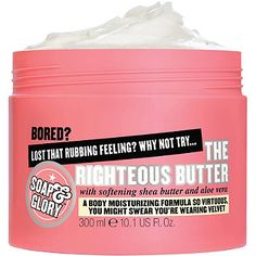 Soap & Glory The Righteous Butter ~ I seriously am addicted to this stuff. I use it after I shower or anytime of day. It makes my skin so soft and smooth. It smells soooo good too! ❤️ One of my favorite products I buy