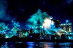「北九州工場夜景/新日鉄住金化学・極寒の情景」
