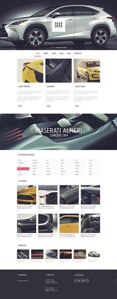 Шаблон TM51145 Тип: Шаблоны WordPress $75 Wordpress Theme Design, Premium Wordpress Themes, Car Advertising, Advertising Design, Corporate Website Templates, Maserati Alfieri, Web Design Software, Portfolio Site, Car Engine
