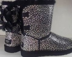 fe85139e21 Bailey Bow Ugg ll Boots encrusted with by TheeQueenOfBling on Etsy Custom  Uggs