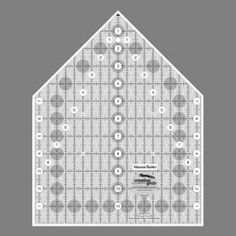 "Creative Grids Ruler House 9.5"" x 12"""