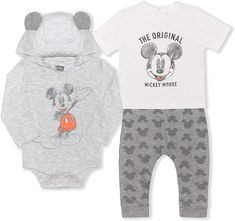 Mickey Mouse Baby Clothes, Mickey Mouse Outfit, Baby Mickey Mouse, Baby Boy Romper, Boy Onesie, Baby Pants, Gifts For Newborn Boy, Newborn Onesies, Disney Boys