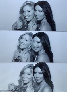 'Love you @leah_jenner': Kim is close to her step-brother's wife and the pair posed together in the photobooth