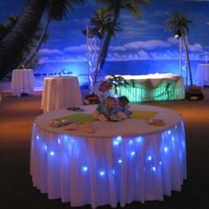Lighted tables