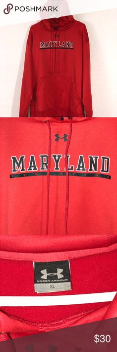 Under Armour Maryland Terrapins Hoodie Support your Team in Style With This Under Armour Maryland Terrapins Red Classic Hooded Sweatershirt. Front Pocket and Super Soft on the Inside.  (B3) Under Armour Shirts Sweatshirts & Hoodies