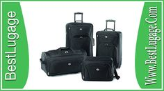 American Tourister Luggage Fieldbrook II 4 Piece Set * Check this awesome image (This is an affiliate link and I receive a commission for the sales) Small Carry On Luggage, 3 Piece Luggage Set, Best Carry On Luggage, Large Luggage, Cheap Luggage, Luggage Shop, Luggage Case, Luggage Trolley, Best Suitcases