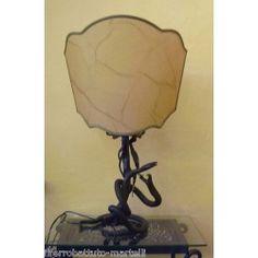 LAMPADA da TAVOLO in Ferro Battuto . Realizzazioni Personalizzate . 498 Iron Table, Wrought Iron, Table Lamp, Lighting, Home Decor, Table Lamps, Decoration Home, Room Decor, Lights