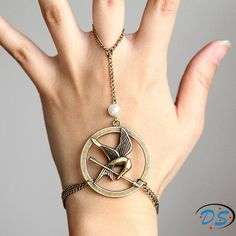 The Hunger Games Mockingjay Arrow bracelet and ring/movie jewelry