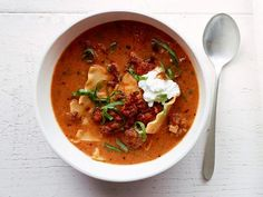 Lasagna Soup recipe from Food Network Kitchen via Food Network - can also use curly pasta instead of breaking up the lasagna noodles Italian Sausage Lasagna, Sweet Italian Sausage, Korma, Biryani, Soup Recipes, Dinner Recipes, Cooking Recipes, Lasagna Recipes, Recipes