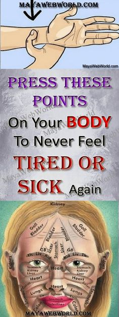 Press These Points On Your Body To Never Feel Tired Or Sick Again – MayaWebWorld #diseases #health #home remedies #natural remedies #treatments #health tips #healthy living