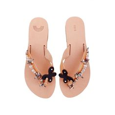 Amaryllis handmade leather sandals embellished with by IRISandals