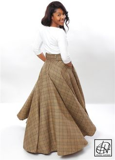 Excentric styles Tawni Haynes Floor Length High Waist Swing Skirt available in many other fabrics! Winter Dress Outfits, Modest Outfits, Skirt Outfits, Modest Fashion, Dress Skirt, Casual Dresses, Fashion Outfits, Womens Fashion, Dress Winter