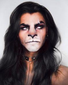 Looking for for ideas for your Halloween make-up? Browse around this site for cute Halloween makeup looks. Lion Makeup, Scar Makeup, Animal Makeup, Fx Makeup, Skull Makeup, Monkey Makeup, Werewolf Makeup, Media Makeup, Witch Makeup