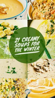 21 Creamy Soups for the Winter Asian Recipes, New Recipes, Crockpot Recipes, Soup Recipes, Dinner Recipes, Cooking Recipes, Favorite Recipes, Healthy Recipes, Ethnic Recipes