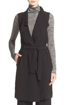 Worn open! - Vince Drape Vest available at #Nordstrom