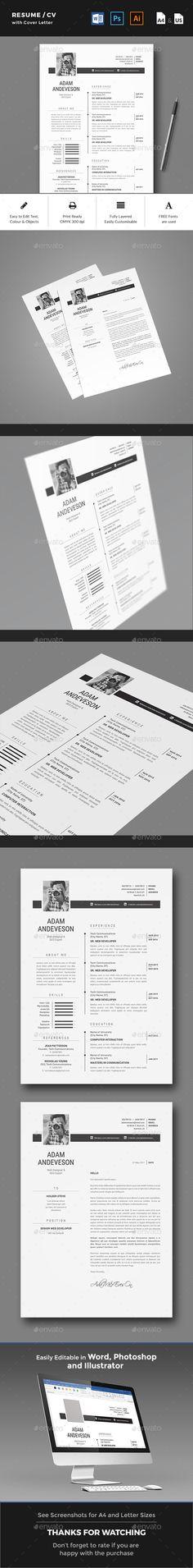 Resume CV Resume cv, Cv template and Cv design - resume paper size