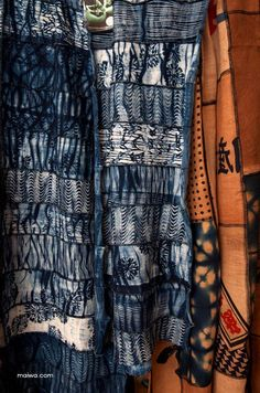 Bryan Whitehead is a master--he knows how to raise silk worms, spin silk, weave, indigo dye and do katazome stencils. Wow! Exquisite work.