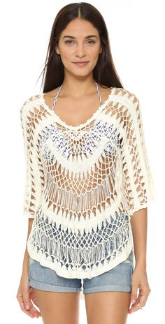 Wildfox A Bikini a Day Mermaid Crochet Tunic | SHOPBOP SAVE UP TO 25% Use Code: EVENT17