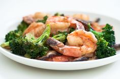 Shrimp and Broccoli Stir-Fry Recipe by Cook Smarts - Jack wanted to try a stir fry recipe with shrimp, broccoli, & mushrooms.  It was great!