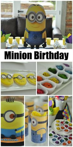 Fun Minion Despicable Me birthday party ideas! See more party ideas at CatchMyParty.com. #minions #boybirthday #birthdaycake