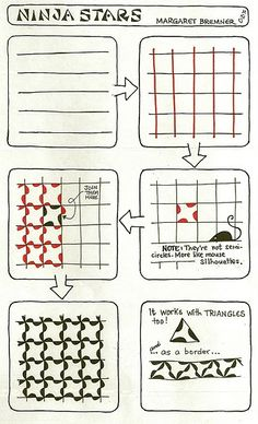 NINJA STARS tangle instructions