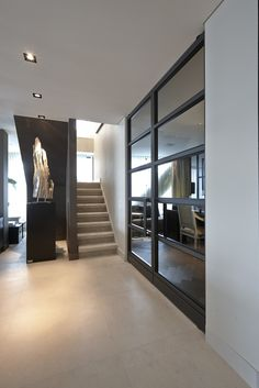 Entrance with Bod'or KTM doors - Design by Eric Kuster - Residential - Doors: Christian - George Modern Interior, Interior And Exterior, Door Design, House Design, Property Design, Interior Stairs, House Stairs, Living Room Flooring, Residential Architecture