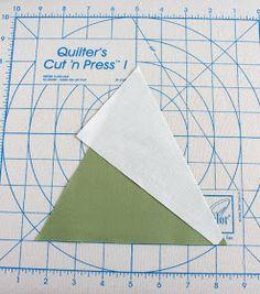 Pinwheel block tutorial using Tri-Recs rulers