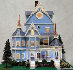 Quarter Scale Bluebell or Ashley Gothic Victorian Dollhouse -Norman's Country Creek 1:48