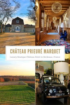 Chateau Prieure Marquet, a luxury boutique chateau hotel just outside of Bordeaux, is the perfect French countryside getaway. Located just 40km from Bordeaux, it makes a wonderful base for exploring Bordeaux's wines.
