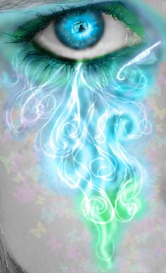 Crying Magic by Midnightstarfae. Surreal eye art. Re-pinned by author, Dew Pellucid (http://thesoundandtheechoes.com).