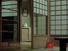 Equinox Flowers (a.k.a. Higanbana) (Yasujiro Ozu, 1958): empty spaces.