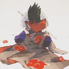 . Oh no , he's hugging ITACHI's cloak