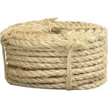 Sisal Rope .. costs around 12 bucks online for 1/4in, 100 feet