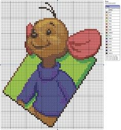 cross stitch patterns tigger | Roo - free cross stitch pattern
