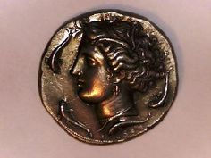 Greek colonies of Italy, Sicily, Syracuse Dekadrachm Huge, Heavy, Large beautiful coin !!!