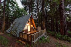 Cozy A-Frame Cabin in the Redwoods - Casas en alquiler en Cazadero