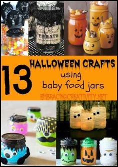 Halloween baby jar ideas