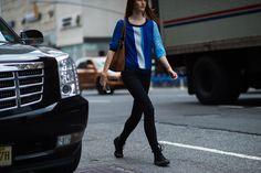 New York Fashion Week Street Style, Day 3 - -Wmag
