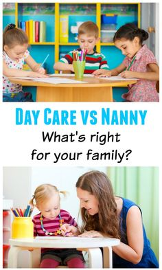 day care center vs nanny Choosing between hiring a nanny and enrolling your child in daycare doesn't have to be stressful the best approach is to be informed on the pros and cons of each.